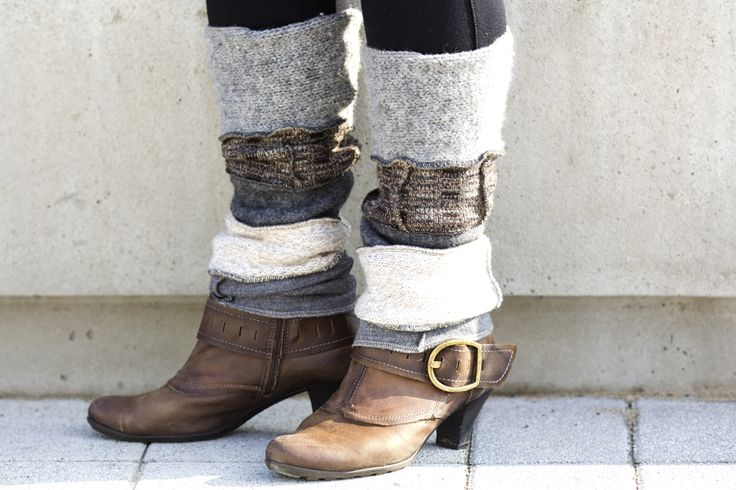 leg warmers-upcycled knitwear by Caryl Richmond