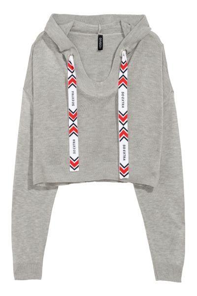 4d765a7468d4e3 Fine-knit hooded jumper   Sweatshirts   Hooded sweater, Sweaters ...