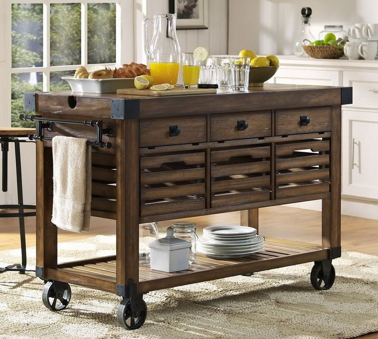 new large wood rolling kitchen island portable storage cart storage shelf victory wood on kitchen island id=39246