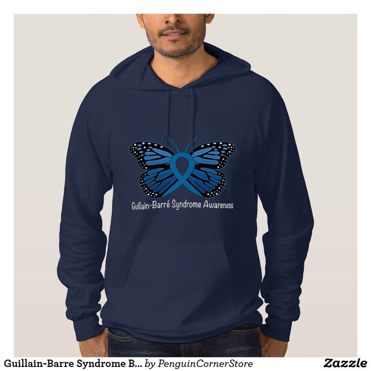 Guillain-Barre Syndrome Butterfly Awareness Ribbon Hoodie