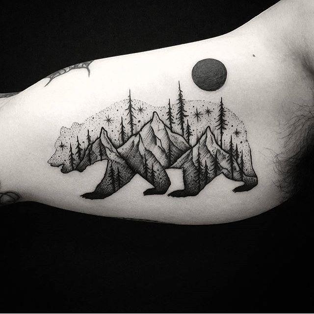 Best 25 bear tattoos ideas on pinterest tree tatto for Designers art of california