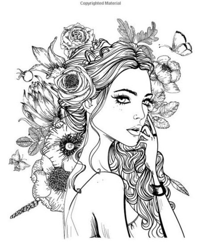 285 best Colouring Pages -Figures images on Pinterest Print - best of coloring page of a hair brush