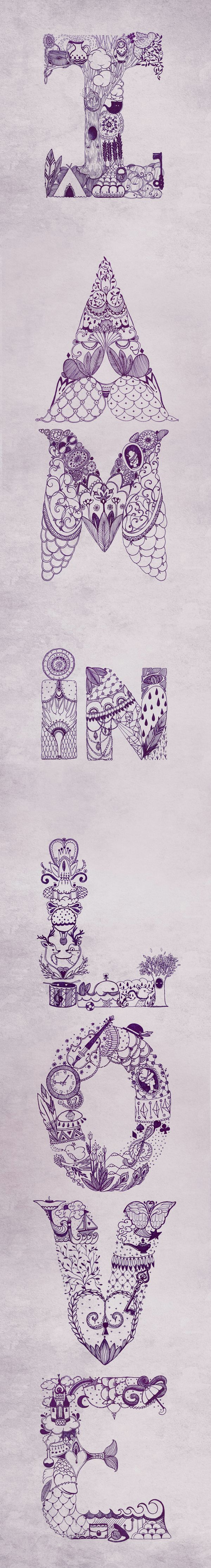 Type: Ideas, In Love, Inspiration, Illustration, Typo Drawings, A Tattoo, Love Doodles, Typography, Letters