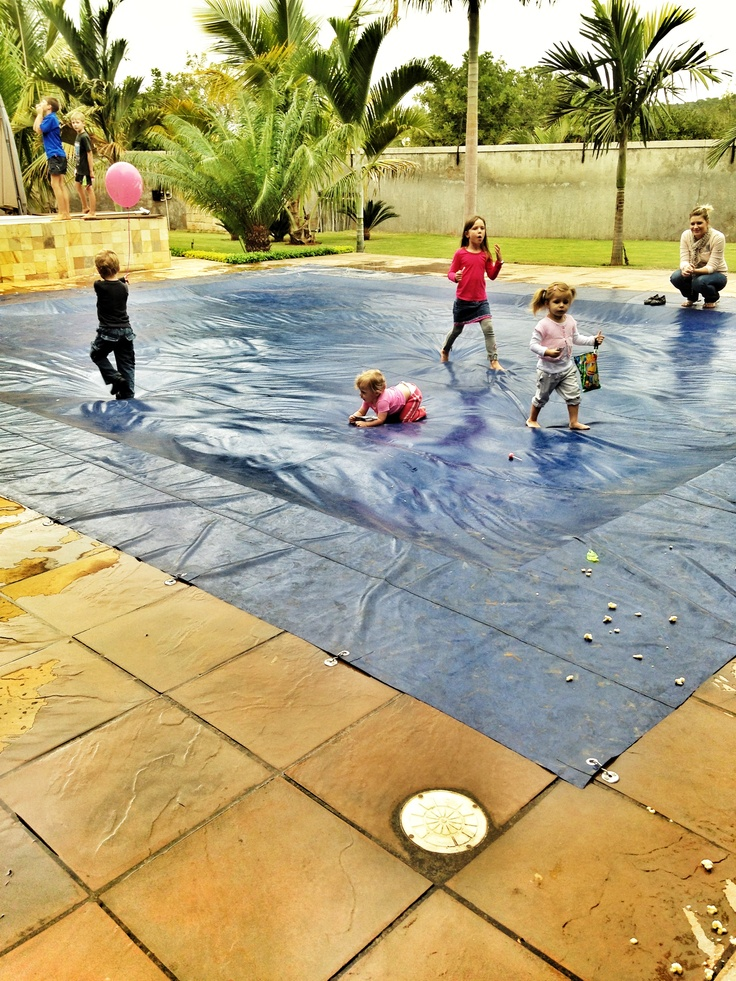 Keeping them safe diy way pool cover from todds to teens for Garden pool with cover