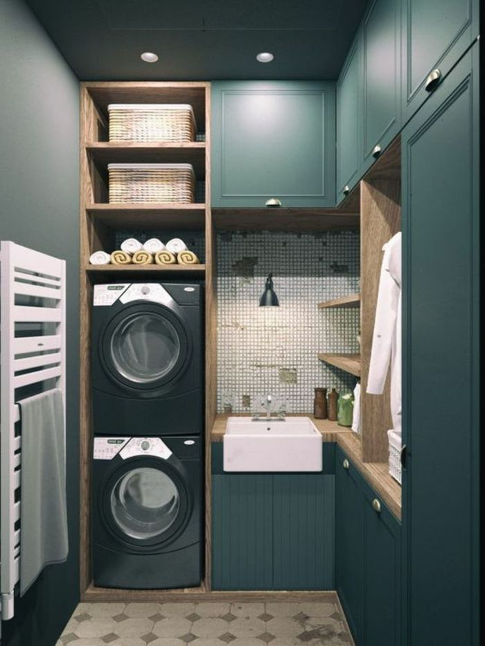 17 best ideas about washer and dryer on pinterest small - Comment amenager une buanderie ...