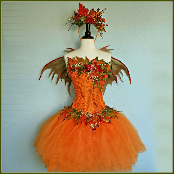 FAIRY COSTUME  the spiced pumpkin autumn faerie  by FairyNanaLand, $345.00