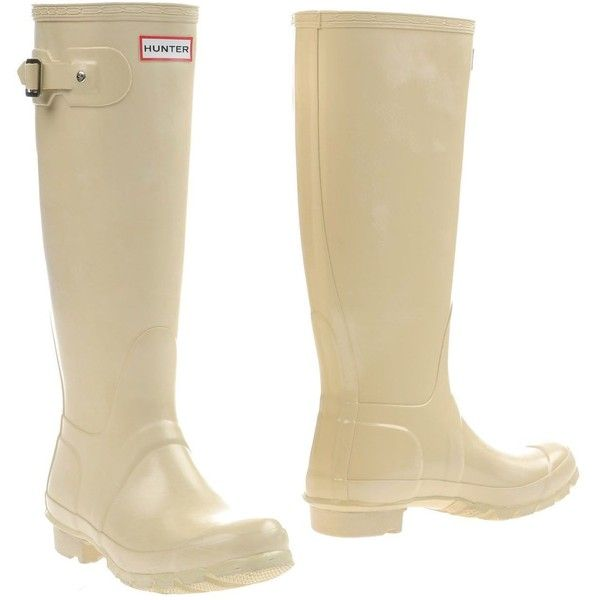 Hunter Boots ($159) ❤ liked on Polyvore featuring shoes, beige, beige shoes, wellies shoes, wellington boots, round cap и hunter footwear