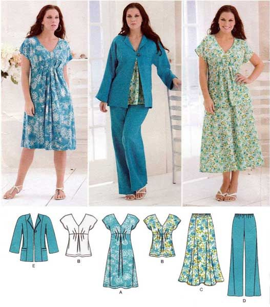 223 best Women\'s Plus Size Sewing Patterns images on Pinterest
