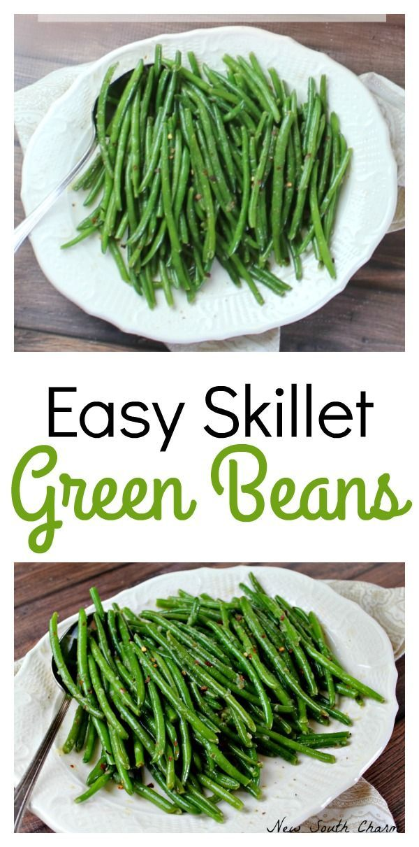 Easy Skillet Green Beans are a great, fast,  fresh and crispy side dish that's ready in just 10 minutes. new