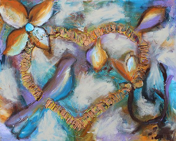 Hope Eternal Mixed Media Painting by anewdayartstudio on Etsy