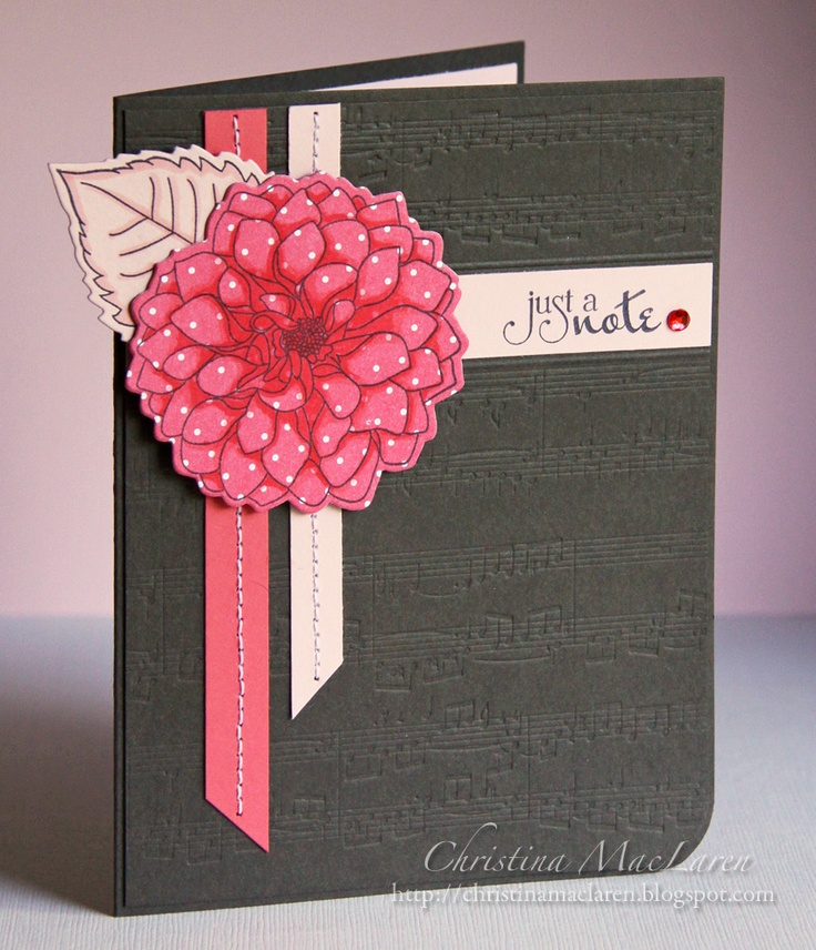 Paper Card Making Ideas Part - 16: Flower And Embossed Paper