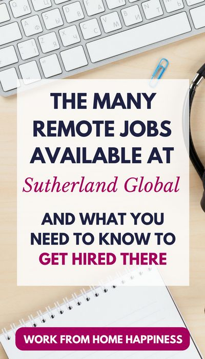 There are a lot of remote jobs available at Sutherland Global. If you need a work from home job ASAP, look no further. Here's what you need to work from home for Sutherland. #workfromhome #job #workathome