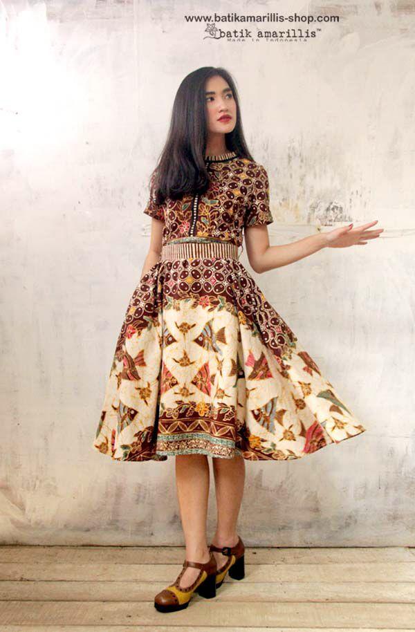Batik Amarillis Made in Indonesia proudly presents: Batik Amarillis's Rive Gauche dress