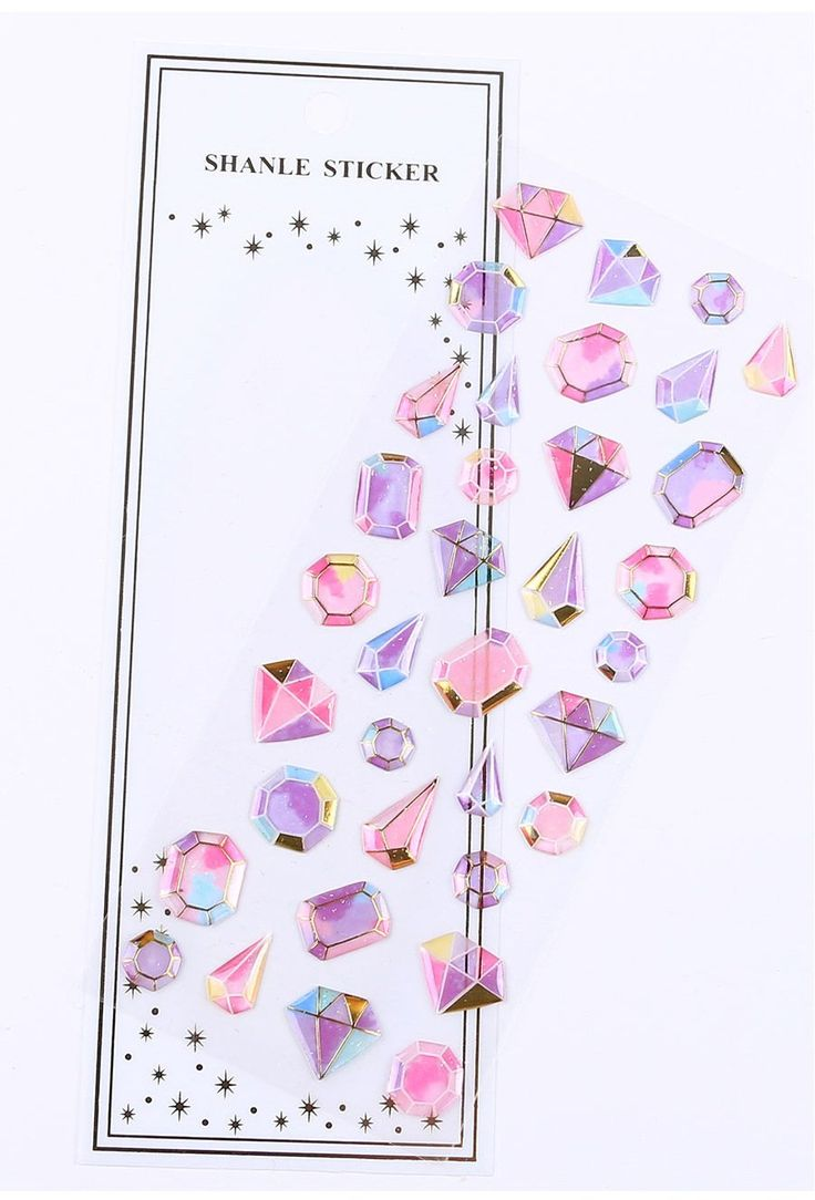 Kawaii Gilding Diamonds 12D Stickers Cute Stickers Crystal   Etsy ...