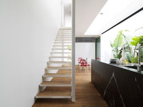 Double Bay House by Tobias Partners - transparency through stairs creating visual continuity