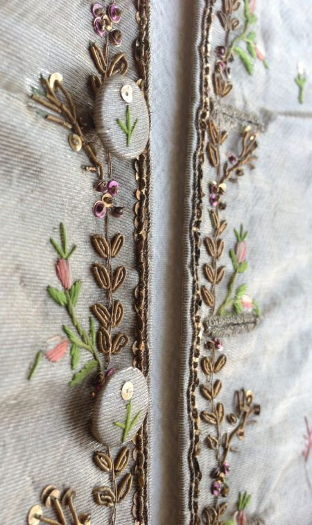 Embroidery on a jacket from 1775-1780