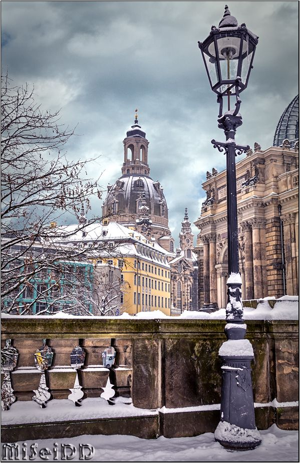 Dresden im Winter, Germany