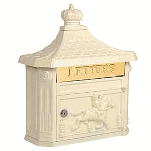 Victorian Mailbox Surface Mounted Beige