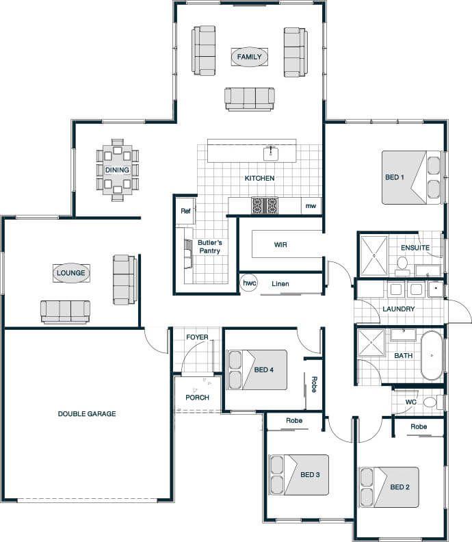 Your Series Stonewood Statics Lakeview 219 House Plans Australia Home Design Floor Plans New House Plans