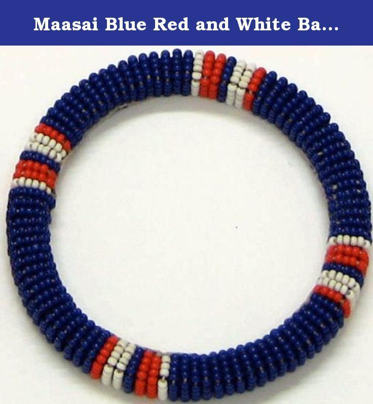 maasai blue red and white bangle small 275 the maasai are a