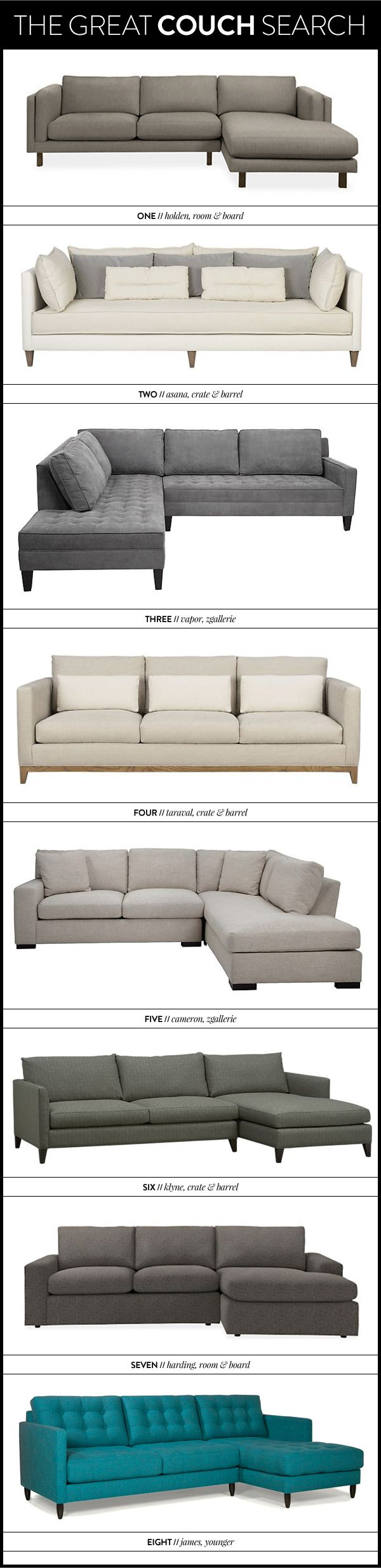 the great couch search — which one of these did we choose?