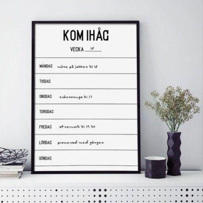 Poster - Kom ihåg