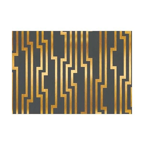 York Wallcoverings Candice Olson Shimmering Details Black and Gold... ($77) ❤ liked on Polyvore featuring home, home decor, wallpaper, black stripe wallpaper, gold striped wallpaper, striped wallpaper, gold stripe wallpaper e chevron stripe wallpaper