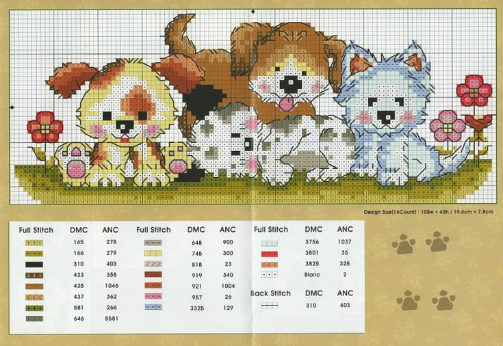 Hunde , Sticken, cross stitch dogs