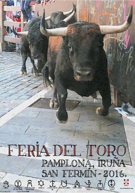 """MAÑANA COMIENZA LA FERIA DEL TORO EN PAMPLONA """"SAN FERMIN 2016"""" Canal Toros Encierros Feria del Toro Noticias Toros Pamplona San Fermín Toros"""