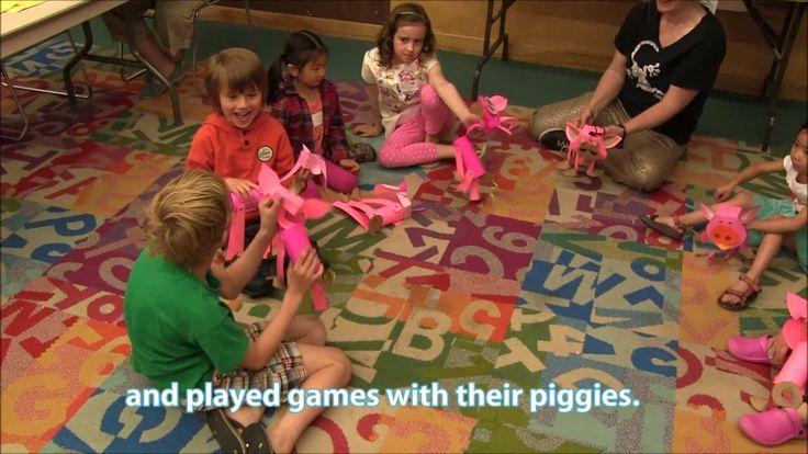 Puppet Pop-Up Studio: paper piggie puppets, June 2016