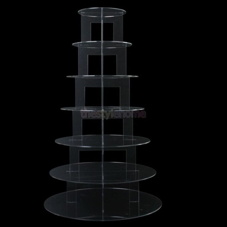 3-7 Tier Clear Acrylic Round Cupcake Tower Stand Wedding Birthday Party Display #