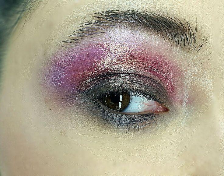 Metallic eyes~wet look Mac Cosmetics makeup