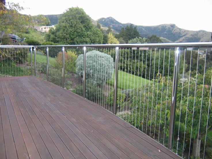 Vertical wire balustrade hillsborough external for Garden decking rope fittings