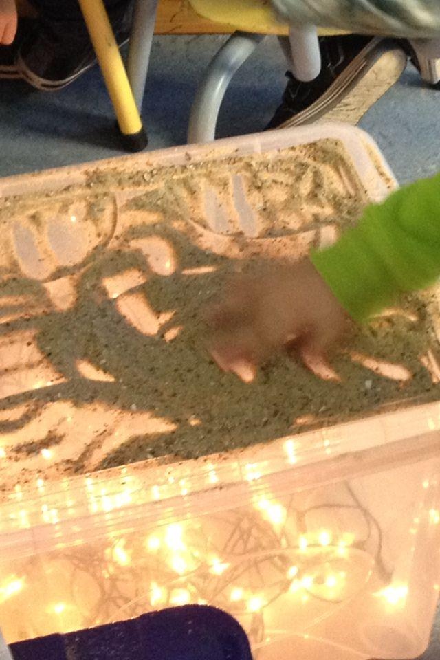 Tekenen in zand