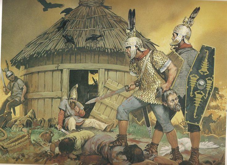 Roman auxiliary cavalry invading a Dacian Village - Roman - Dacian War - http://www.inblogg.com/roman-auxiliary-cavalry-invading-a-dacian-village-roman-dacian-war/