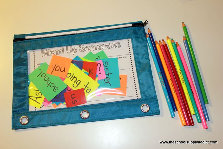 Mixed up sentence activity from the school supply addict blog.  Freebie link down below for recording sheets.