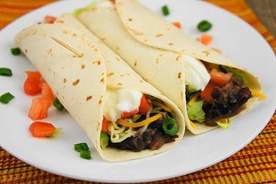 Chipotle Bean Burritos #dinner