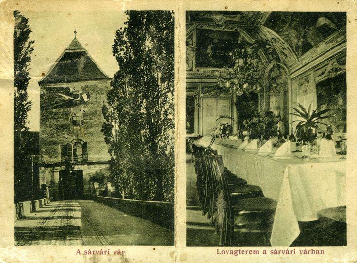 A Nádasdy-vár bejárata és a díszterem