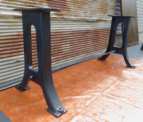 Dining Live Edge Table Legs Cast Iron Industrial Antique Modern