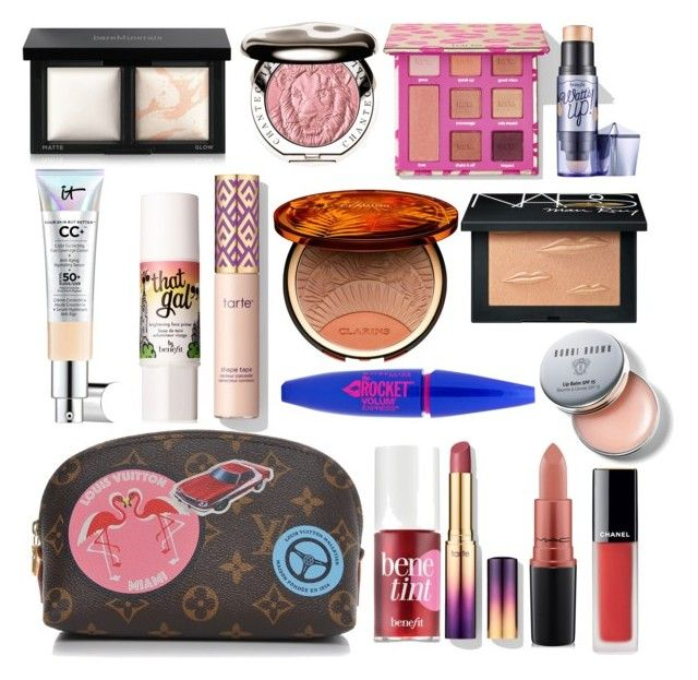 """Makeup Bag No.2"" by sitinurliyana ❤ liked on Polyvore featuring beauty, Louis Vuitton, It Cosmetics, Benefit, Bare Escentuals, Chantecaille, Clarins, MAC Cosmetics, NARS Cosmetics and Bobbi Brown Cosmetics"