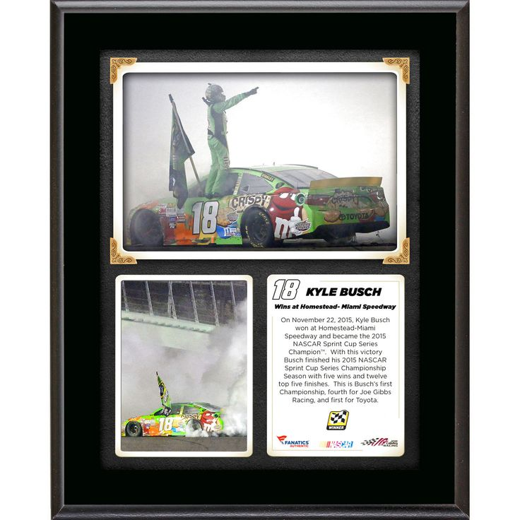 Kyle Busch Fanatics Authentic 2015 Ford EcoBoost 400 at Homestead- Miami Speedway Race Winner 10.5'' x 13'' Sublimated Plaque Collage - $23.99