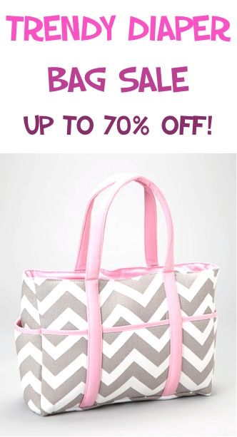 Maybe this comes in blue or green. Trendy Diaper Bag Sale: up to 70% off! #chevron #baby #diapers
