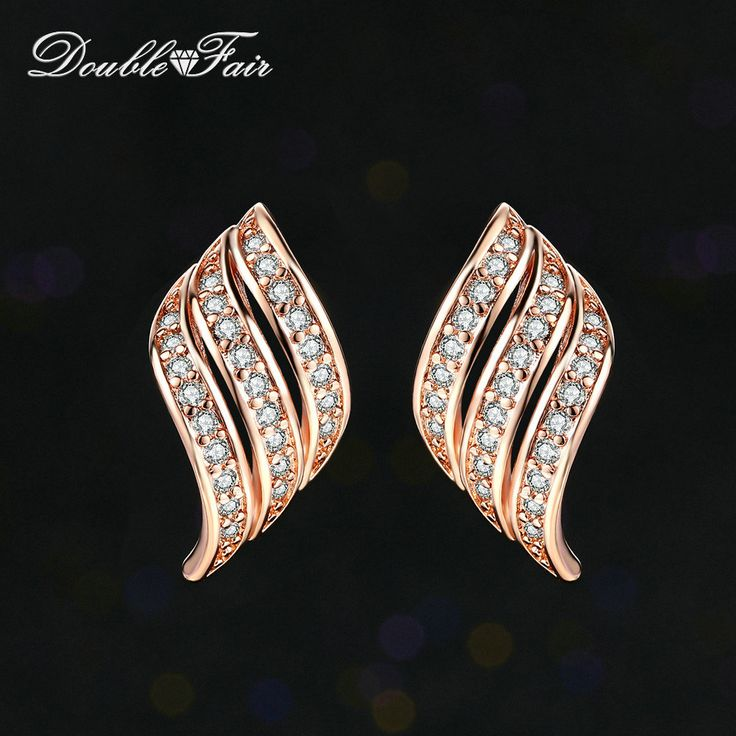 Vintage CZ Stone Angle's Wings Stud Earrings // Price: $10.95 & FREE Shipping //  We accept PayPal and Credit Cards.    #pink