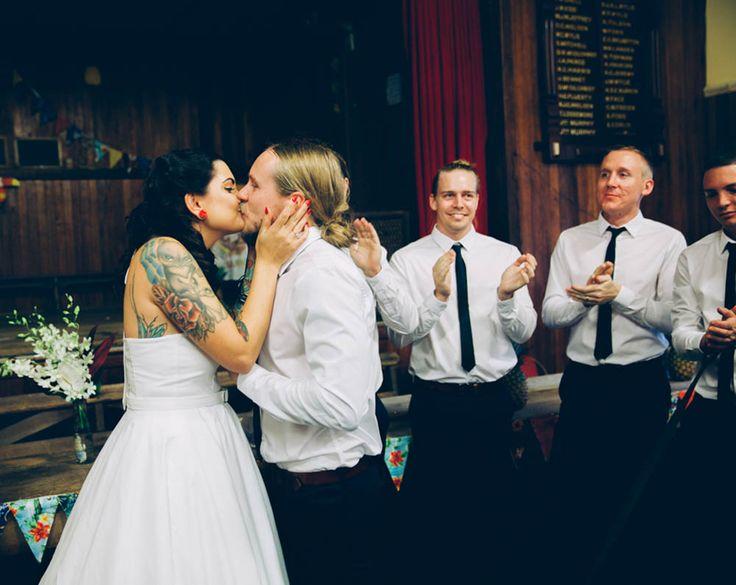 HOORAY! magazine - Alison + Dean #bride #groom