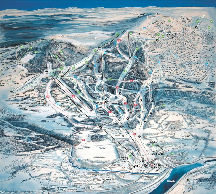 ❄ Updated #Hafjell Piste Map. #skiing ❄ ➽ See high resolution at http://www.skiferietips.dk/norge/hafjell/pistekort