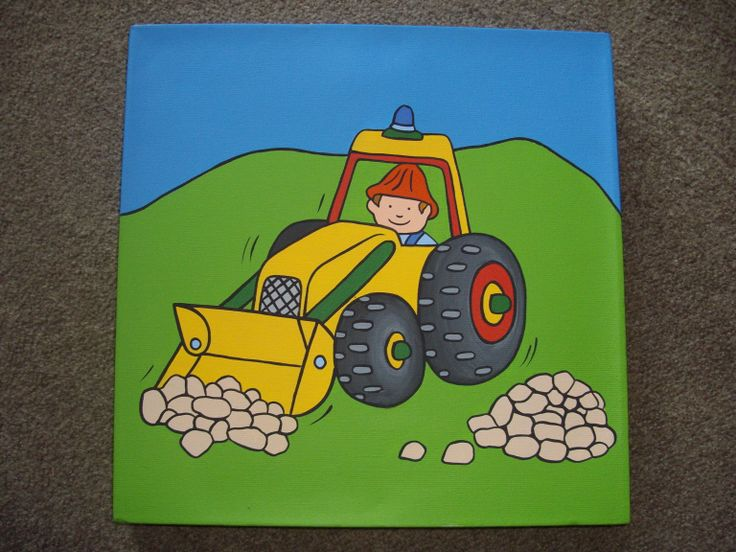 A canvas for the 'transport' interested toddler 12x12 canvas