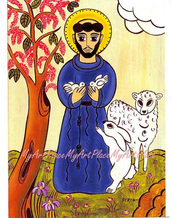 Postcards Prints St Francis Patron Saint of Animals by MyArtPlace, $1.50