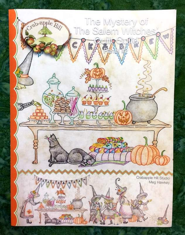 For the Embroidery Enthusiasts... The Mystery of The Salem Witches' Quilt Guild pattern $10.50 byCrabapple Hill Studio, Meg Hawkey (see newsletter below for more details):  http://newsletters.quiltropolis.net/display2.aspx…