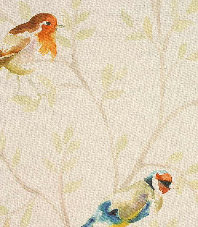 A Stylish Fabric Depicting Garden Birds This Contemporary Curtain Is Made From Cotton