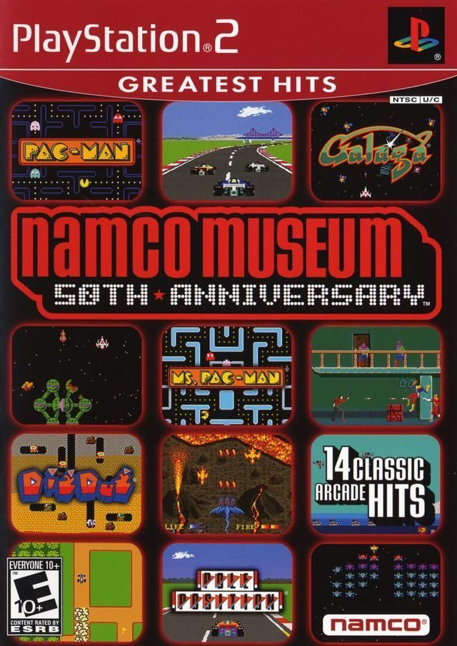 Namco Museum 50th Anniversary (Sony PlayStation 2, 2005) Complete